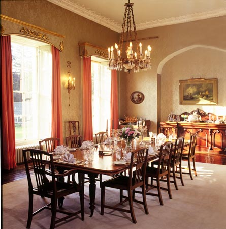 wooden dining room elegant - Fancy Dining Room